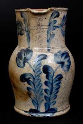 1 Gal. Stoneware Pitcher with Floral Decoration att. Richard Remmey, Philadelphia