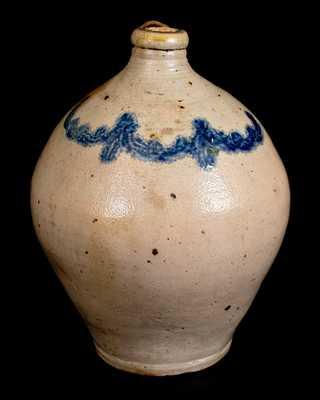 2 Gal. C. CROLIUS / MANUFACTURER / NEW-YORK Ovoid Stoneware Jug