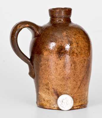 Scarce Glazed Redware Jug, Strasburg, VA, circa 1890
