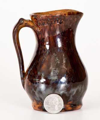 Very Fine JOHN BELL, Waynesboro, PA, Redware Pitcher w/ Sponged Manganese Decoration