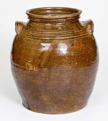 Fine Alkaline-Glazed Stoneware Jar att. Dave, Lewis Miles's Stoney Bluff Pottery, Edgefield, SC