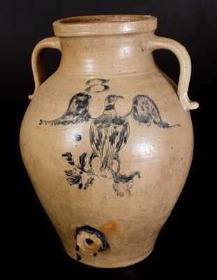 Ohio Stoneware Water Cooler w/ Incised Eagle Design