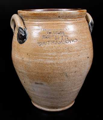 MADE BY / W. RICKETTS / SOUTH AMBOY Stoneware Jar