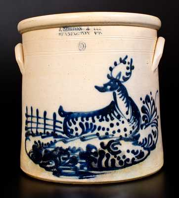 Outstanding J. NORTON & CO. / BENNINGTON, VT Stoneware Deer Crock