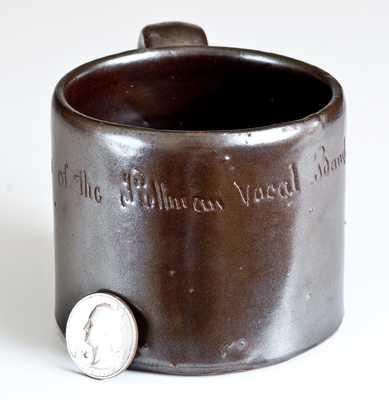 Anna Pottery Stoneware Frog Mug, Wallace and Cornwall Kirkpatrick, Anna, IL, circa 1885.