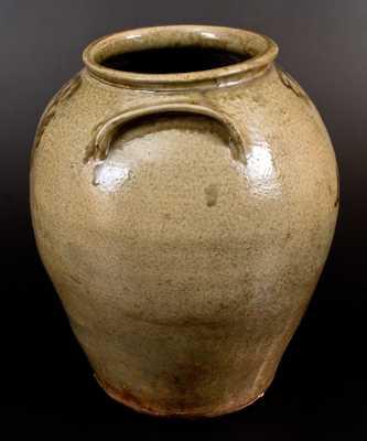 Very Fine 6 Gal. Early Edgefield, SC Stoneware Jar with Slip