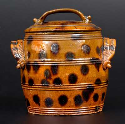 Pennsylvania Redware Lidded Jar