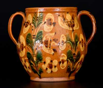 Bucks County Redware Jar, Dated 1810