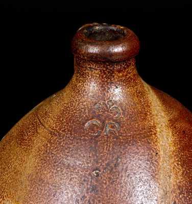 Extremely Rare English Stoneware Jug with Impressed