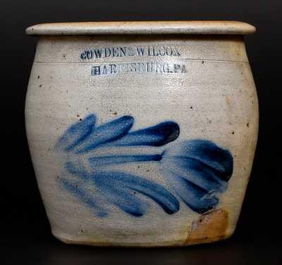 Rare COWDEN & WILCOX / HARRISBURG, PA Stoneware Apple Butter Jar