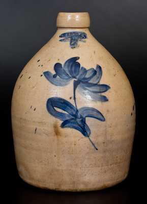 Rare J.H. BROOKS. / OLEAN, NY Two-Gallon Stoneware Jug