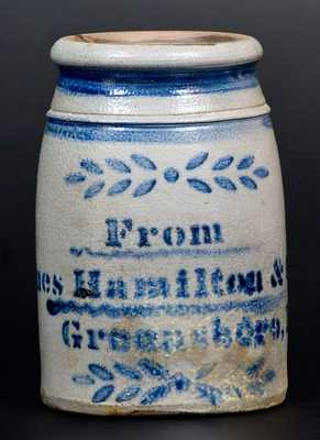 Small-Sized Stoneware Canning Jar, Stenciled