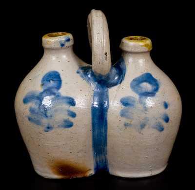 Rare Small-Sized Stoneware Gemel, Connecticut origin, circa 1825