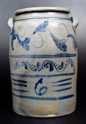 N. COOPER & POWER / MAYSVILLE, KY Elaborately-Decorated Jar by HAMILTON / GREENSBORO, PA