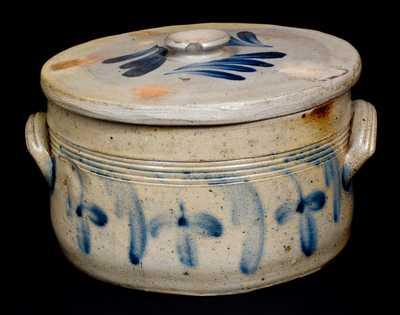 Stoneware Butter Crock with Lid att. Richard Remmey, Philadelphia, PA