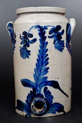2 Gal. Stoneware Water Cooler w/ Bold and Elaborate Floral Decoration att. Henry Remmey, Philadelphia