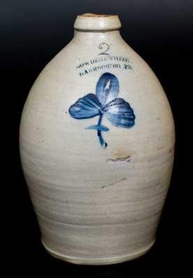 COWDEN & WILCOX / HARRISBURG, PA Stoneware Jar with Floral Decoration
