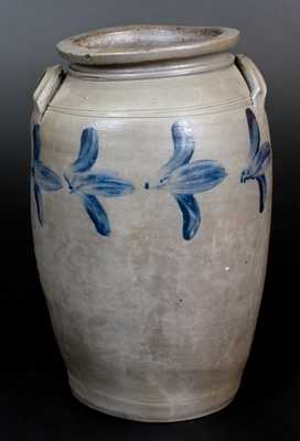 3 Gal. Stoneware Jar with Floral Decoration, James River, Virginia, origin