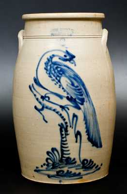 Outstanding 6 Gal. HAXSTUN, OTTMAN & CO. / FORT EDWARD, NY Stoneware Pheasant Churn