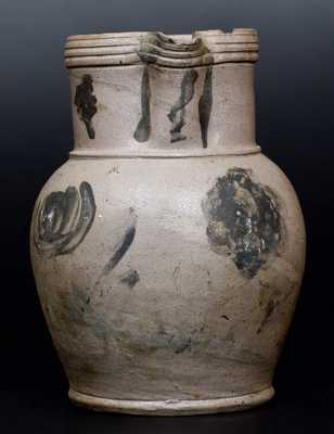 1/2 Gal. Stoneware Pitcher with Floral Decoration, Huntingdon County, PA, circa 1850