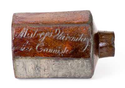 Philip Anthony 1795 Redware Cannister