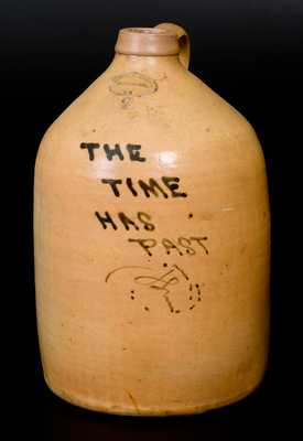 BROWN BROTHER / HUNTINGTON / L.I. (Long Island) Stoneware Epitaph Jug