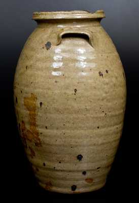 Very Rare Isaac E. Gay, Kershaw County, SC Alkaline-Glazed Stoneware Jar