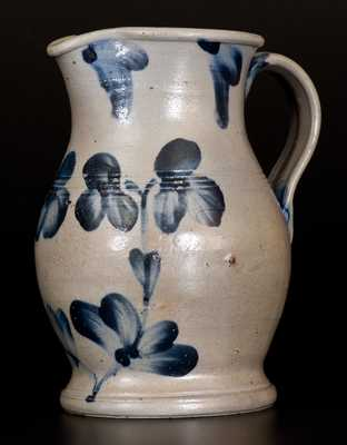 1/2 Gal. Stoneware Pitcher with Unusual Tooled Features, Baltimore, MD, circa 1870