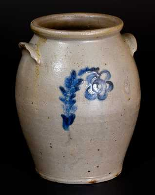 Outstanding J. MILLER / WHEELING, VA Stoneware Jar with Bold