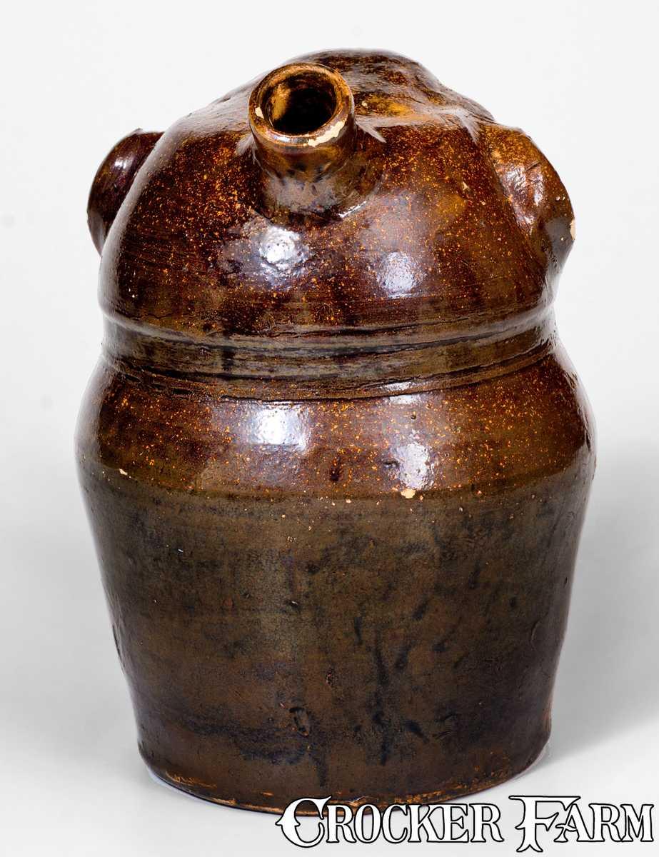 Extremely Rare Stoneware Face Harvest Jug Alabama Fourth