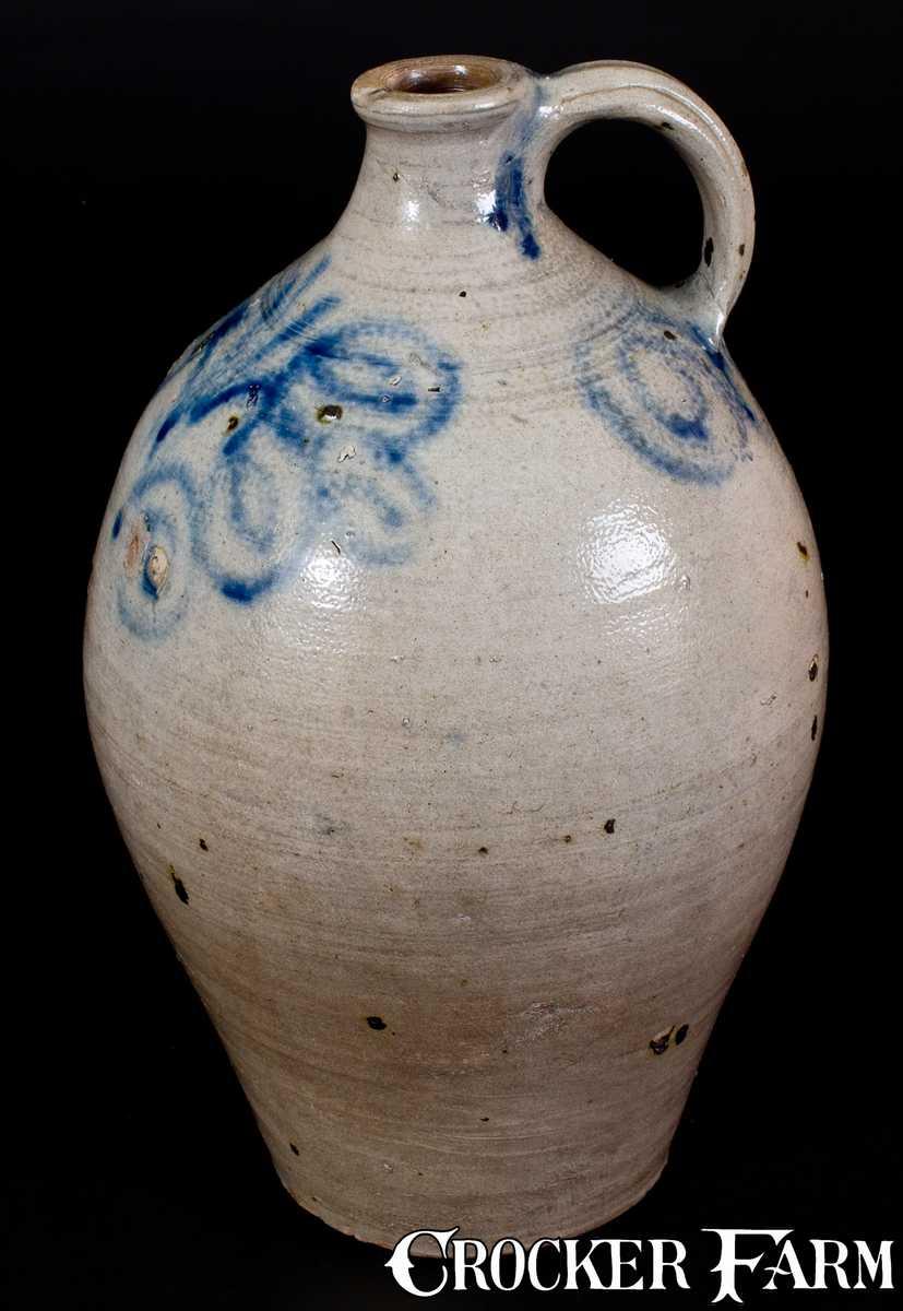 Extremely Rare Kemple Pottery Ringoes Nj Stoneware Jug