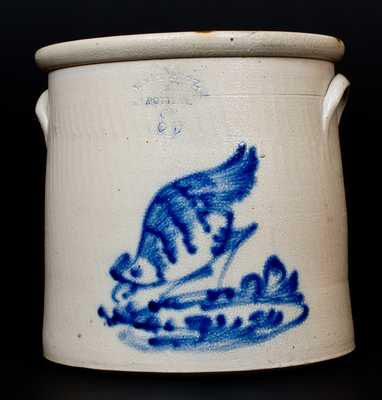WEST TROY, / N.Y. / POTTERY Stoneware Chicken Crock