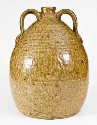 Rare CJB (Columbus Jackson Becham, Crawford County, GA) Double-Handled Stoneware Jug
