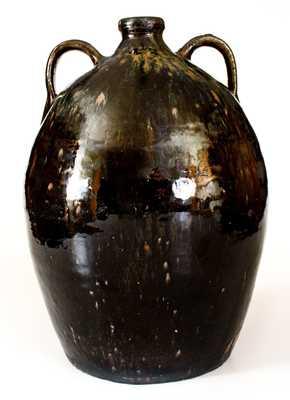 Rare JBL (Jesse Bradford Long, Crawford County, GA) Double-Handled Stoneware Jug