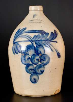 Two-Gallon COWDEN & WILCOX / HARRISBURG Stoneware Grapes Jug