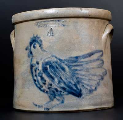 SEYMOUR & BOSWORTH / HARTFORD, CONN. Stoneware Elaborate Chicken Crock