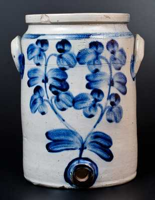 Baltimore Stoneware Water Cooler w/ Profuse Floral Decoration, Baltimore, circa 1870
