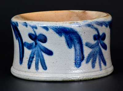 Stoneware Spittoon w/ Elaborate Floral Decoration att. Henry Remmey, Philadelphia, PA