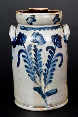 Stoneware Churn w/ Floral Decoration att. Richard Remmey, Philadelphia, PA