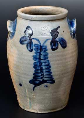 Rare MYERS & BOKEE (Baltimore) Stoneware Jar, circa 1835