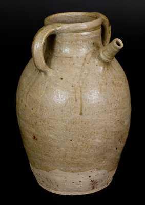 Very Unusual Alkaline-Glazed Stoneware Spouted Vessel, Southern Origin