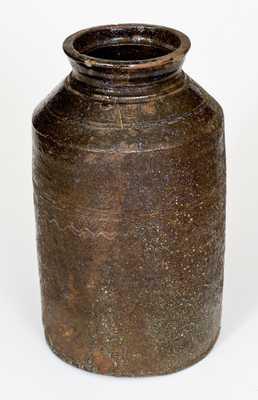 1 1/2 Gal. Alkaline-Glazed Southern Stoneware Pottery Jar