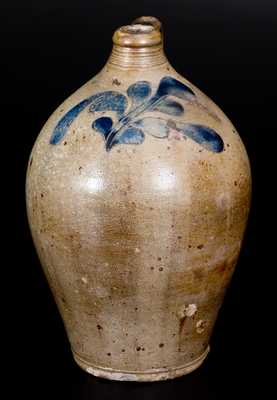 Stoneware Jug w/ Incised Decoration att. David Morgan, Manhattan, early 19th century