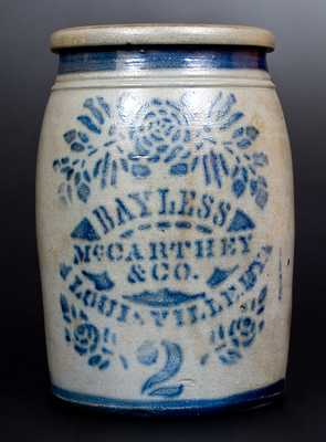 BAYLESS, MCCARTHEY & CO. / LOUISVILLE, KY w/ Elaborate Stenciled Floral Decoration