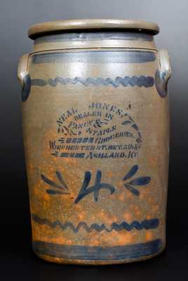 4 Gal. Western PA Stoneware Jar with ASHLAND, KY Stenciled Advertising