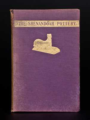Autographed Copy of The Shenandoah Pottery by Alvin H. Rice and John Baer Stoudt.