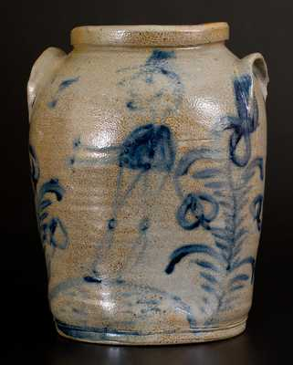 Baltimore Stoneware Jar w/ Hatted Man Design, circa 1825-30