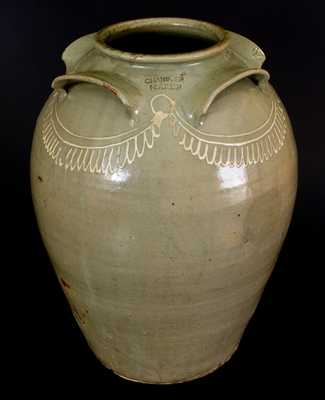 CHANDLER MAKER Thomas Chandler, Edgefield, SC, Ten-Gallon Stoneware Jar