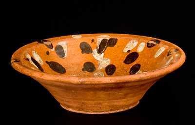 Very Rare Diminutive Redware Bowl attrib. Solomon Loy, Alamance County, NC, c1825-40