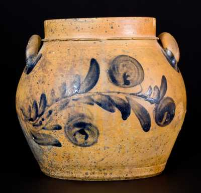 Rare Shenandoah Valley Stoneware Preserve Jar attrib. Coffman Family, Rockingham County, VA